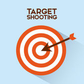 Target shooting — Stock Vector