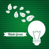 Piensa verde — Vector de stock