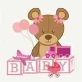 Toys baby  — Vector de stock