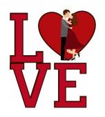αγάπη κάρτα — Διανυσματικό Αρχείο