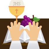 Catholic religion  — Stock Vector