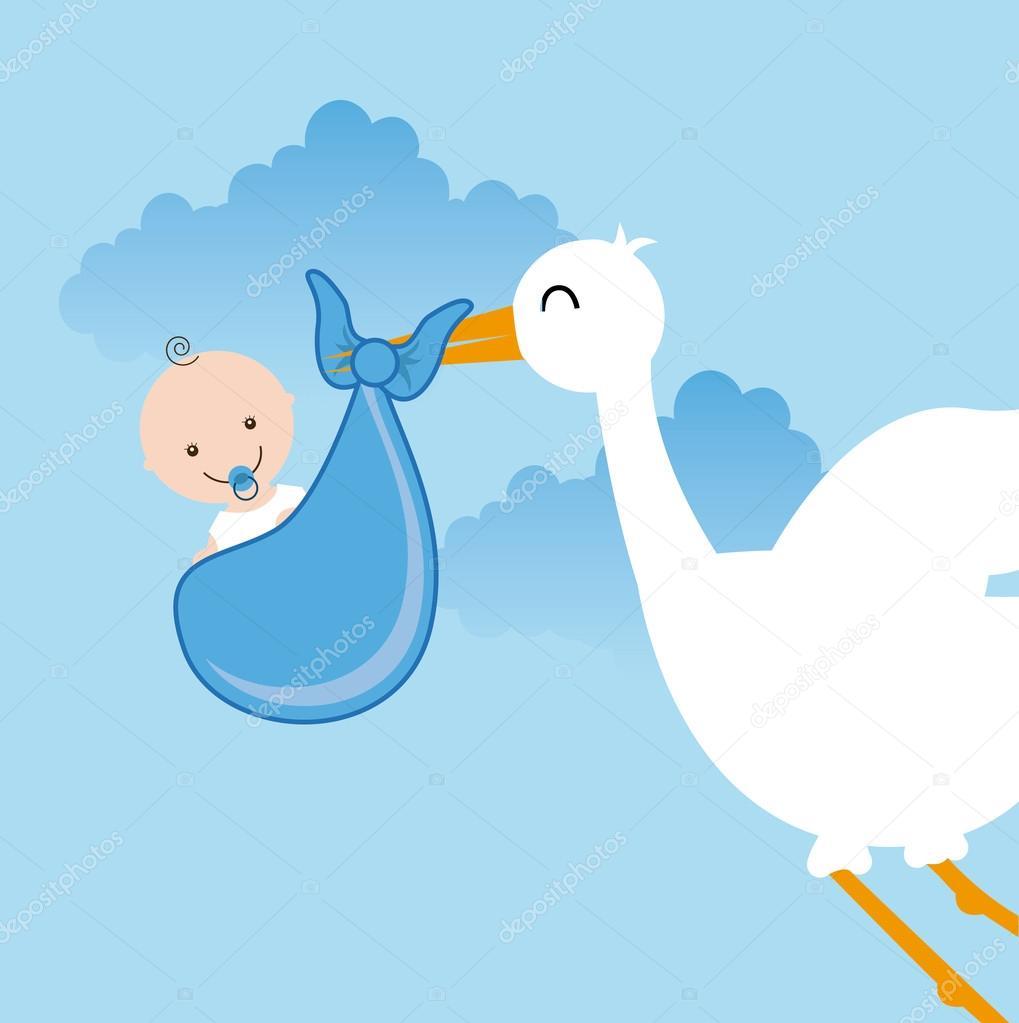 婴儿淋浴设计,矢量图 eps10 图形– 图库插图