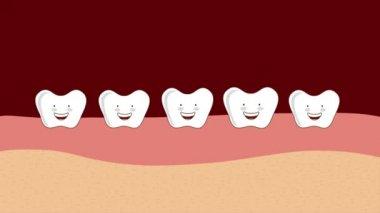 快乐的牙齿,视频动画 — 图库视频影像