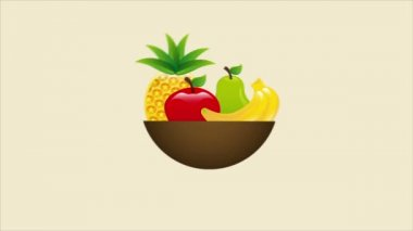 Fruits, Video animation — Stock Video