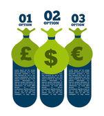 Money infographics — Stock Vector