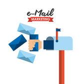 Conceito de e-mail — Vetor de Stock