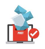 Concetto di e-mail — Vettoriale Stock