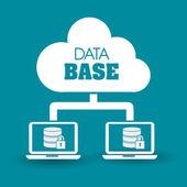 Database design, vector illustration. — 图库矢量图片