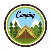Camping design, vector illustration. — Stock Vector
