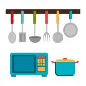 Kitchen design, vector illustration. — Stock Vector