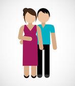 Family design, vector illustration. — Stock Vector