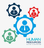 Human resources, vector illustration. — Stock Vector