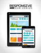Projektowanie stron internetowych elastyczne, ilustracji wektorowych. — Wektor stockowy