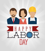 Labor day card design, vector illustration. — Stock Vector