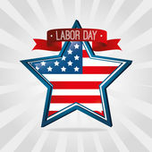 Labor day card design, vector illustration. — Stock Vector