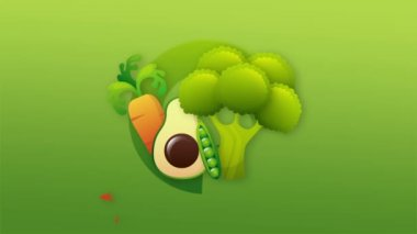 Vegetables Video animation — Stock Video