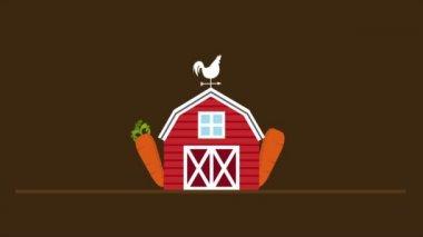 Farm Icon, Video animation — Stock Video