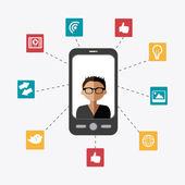 Social media design — Stock Vector