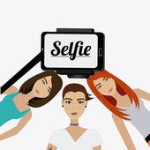 Selfie design illustration. — Stock Vector