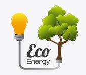 Ecology design illustration — Stock Vector