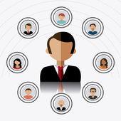 Network design illustration — Stock Vector