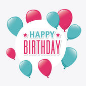 祝你生日快乐卡设计. — 图库矢量图片