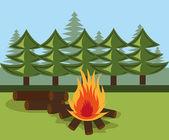 Camping design. — Stock Vector