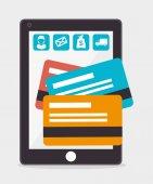 Online payments design. — Stock Vector