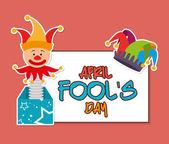 April fools day design. — Stock Vector