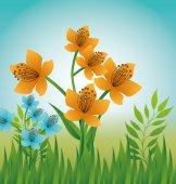 Diseño de flores. — Vector de stock