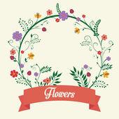 Ontwerp met bloemen. — Stockvector