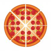 Desenho de pizza. — Vetor de Stock