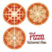 Pizza design. — Stock Vector