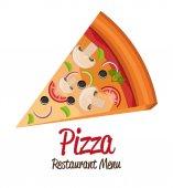 披萨设计. — 图库矢量图片