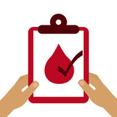 Donate blood  — Stock Vector