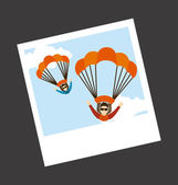 Parachute fly — Stock Vector