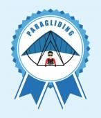 Paragliding sport — Stock Vector