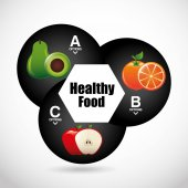 Gesunde Ernährung-Infografiken — Stockvektor