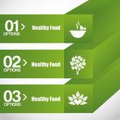 Healthy food infographics  — Stock Vector
