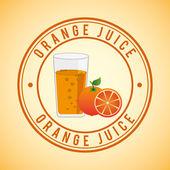 Juice fruit design — Stock Vector