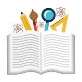 School supplies design — Stock Vector