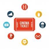 Cinema iconen ontwerp — Stockvector