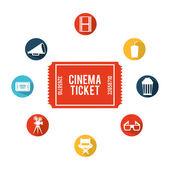 Kino ikony designu — Stock vektor