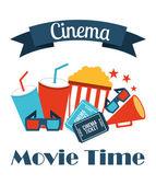 Cinema icons design — Stock Vector