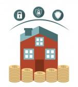 Versicherung konzeption — Stockvektor