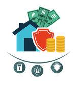 Försäkring konceptdesign — Stockvektor