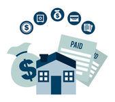 Pay taxes design — Stock Vector