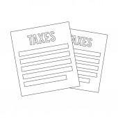 Tax icon design — Wektor stockowy