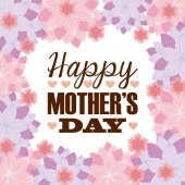 Mutlu anneler günü — Stok Vektör