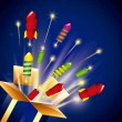 Pyrotechnic fireworks — Stock Vector #69551197